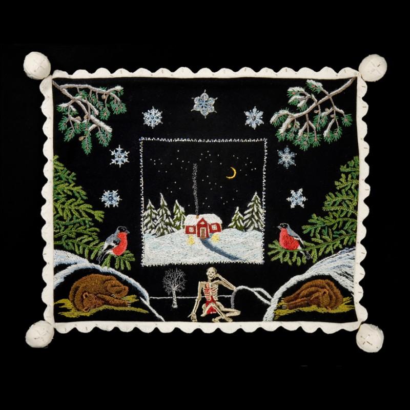 Vintern vykort - Winter postcard