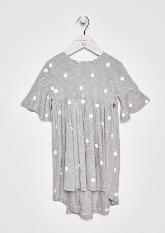 Angel & Rocket Grey Spot Dress