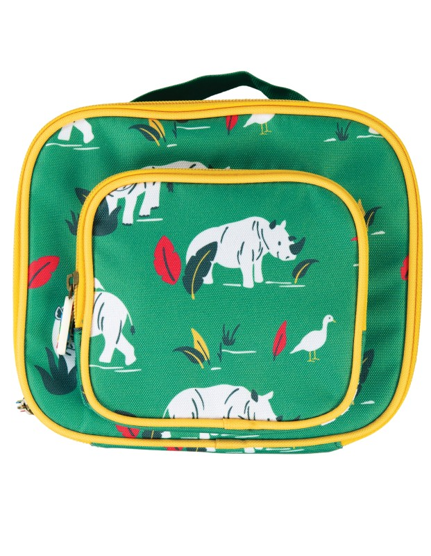 Frugi Pack a Snack Lunch Bag Rhino Ramble
