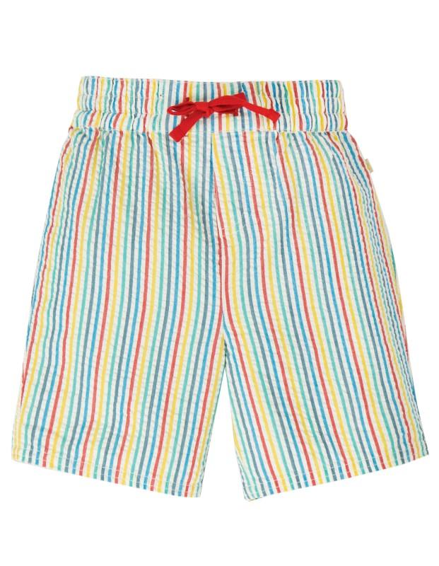Frugi Akiara Shorts, Multi Seersucker Stripe
