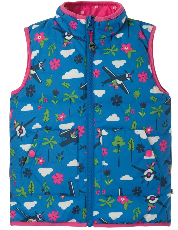 Frugi Explorer Gilet Sail Blue Fly High