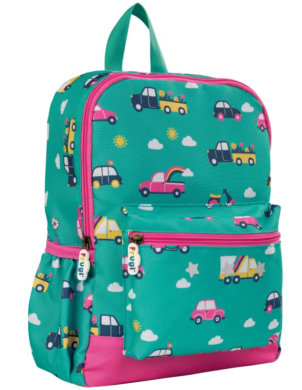 Frugi Adventure Backpack Aqua Rainbow Roads