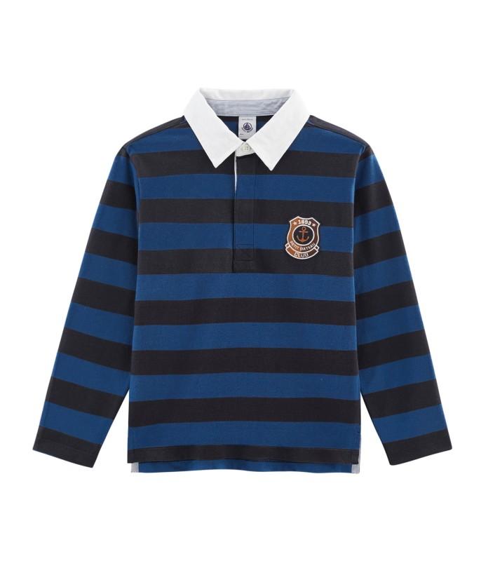 Petit Bateau Blue Stripe Rugby Shirt