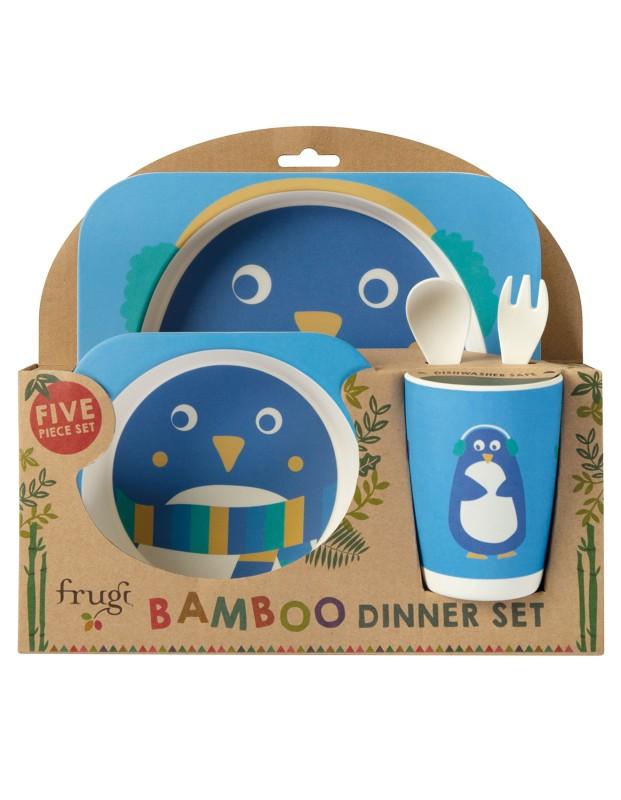 Frugi Bamboo Dinner Set, Penguin