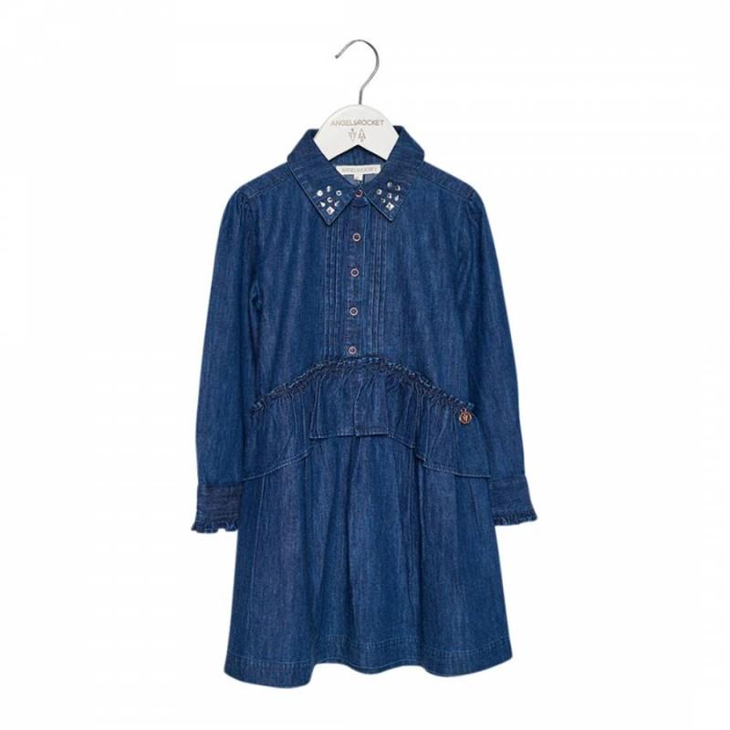 Angel & Rocket Jewel Chambray Dress