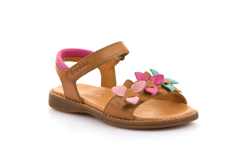 Froddo Brown Flower Sandal, G3150153-11
