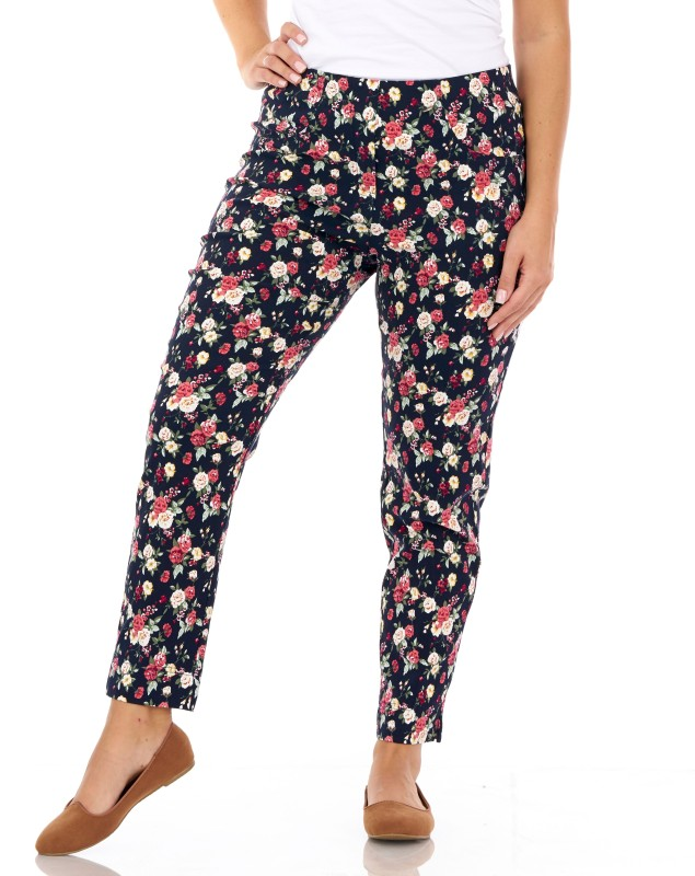 226CT PINNS Floral Trousers