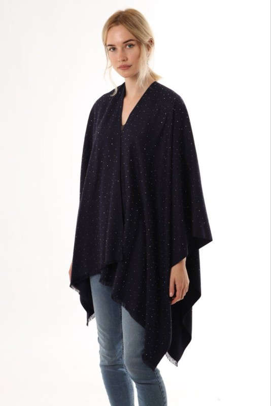 Scattered Stud Cape - Navy