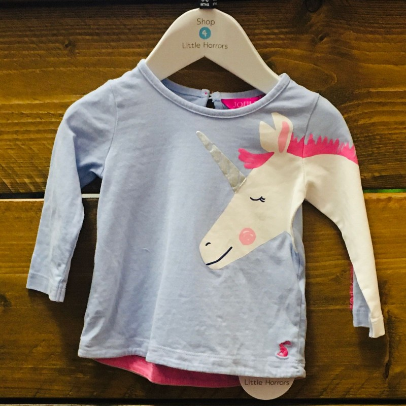 JOULES UNICORN TOP 3-6M