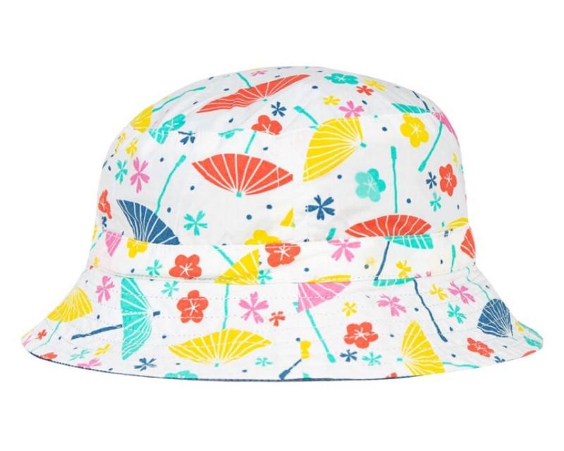 Frugi Hattie Reversible Hat, Soft White Parasols