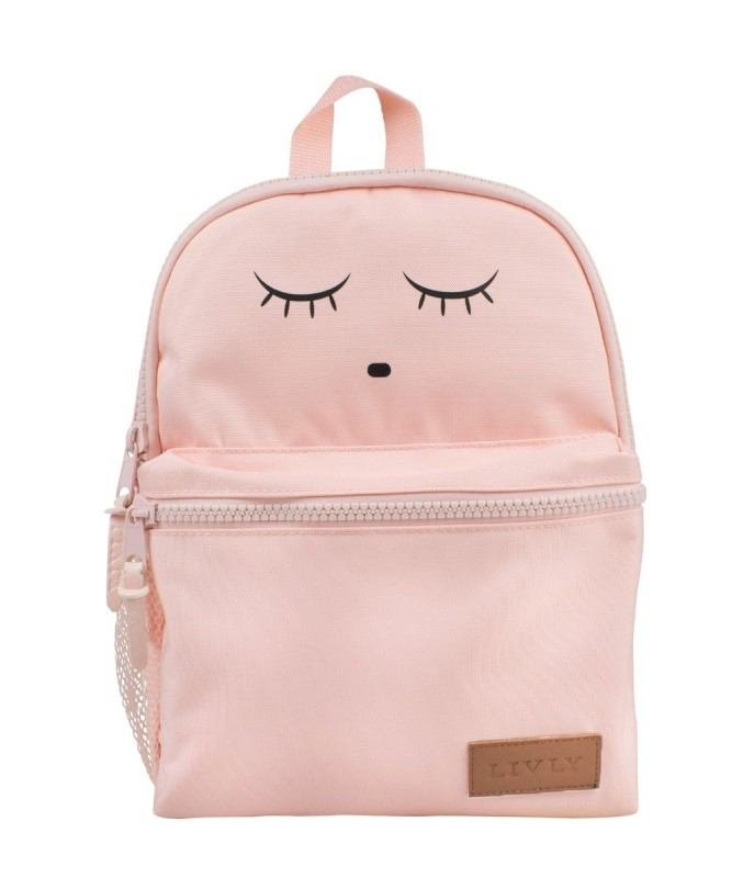 Livly Backpack Pink Sleeping Cutie