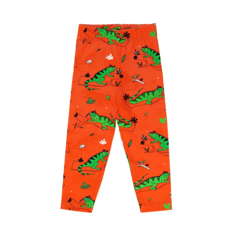 Raspberry Republic Leggings – Ignacio the Iguana Red SS19