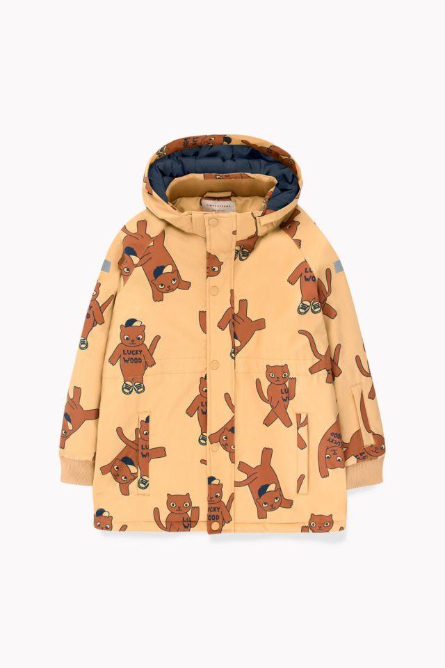 Tinycottons Animal Print Snow Jacket Brown/Dark Brown