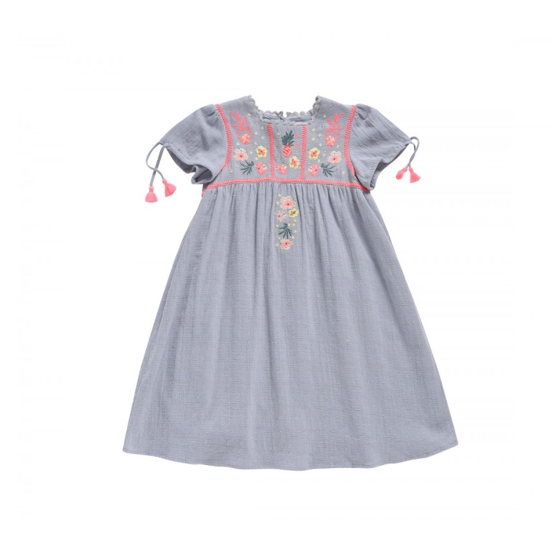 Louise Misha Dress Coconut Silver Clould