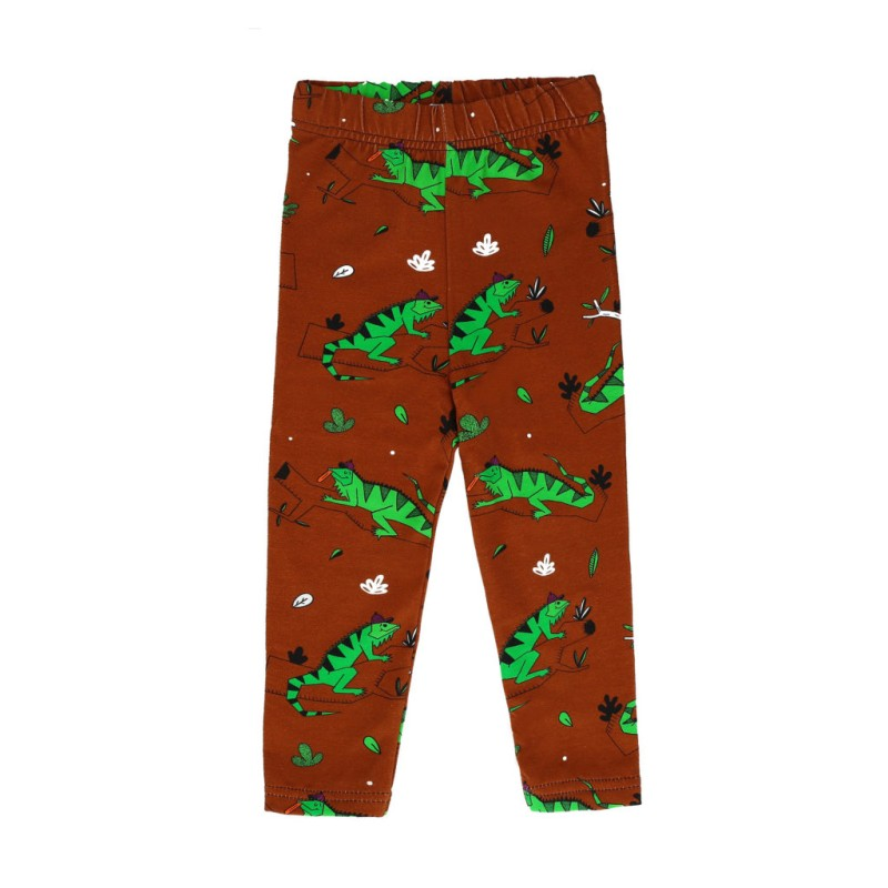 Raspberry Republic Leggings – Ignacio the Iguana Brown SS19