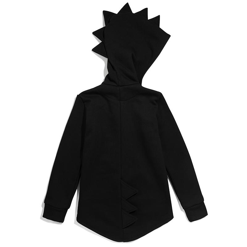 Kukukid Dino hoodie cotton black