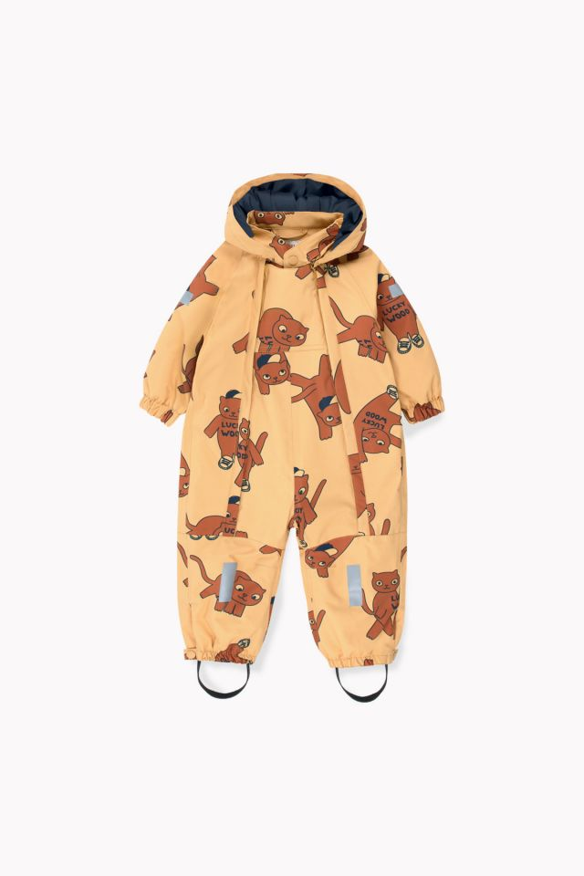 Tinycottons Cats Snow One-Piece Sand/Brown