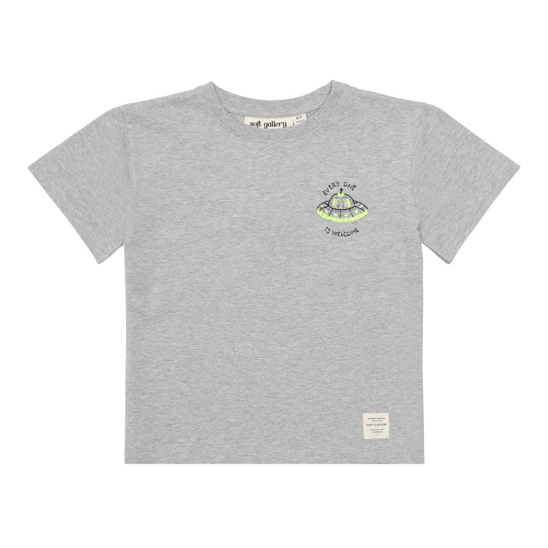 Soft Gallery Kids Asger T-shirt Light Grey Mela