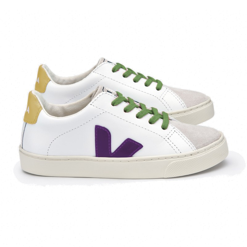 Veja Esplar Small Lace Leather Extra White Leaf