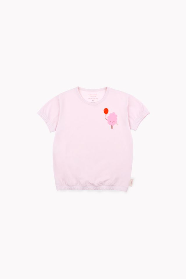Tinycottons 'Candy Floss' SS Baggy Tee PearlL/Pink