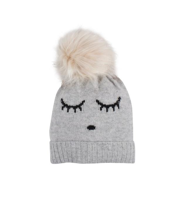 Livly Cashmere Hat Grey Sleeping Cutie