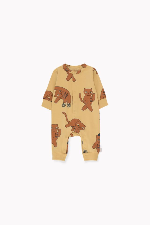 Tinycottons Cats One-Piece Sand/Brown
