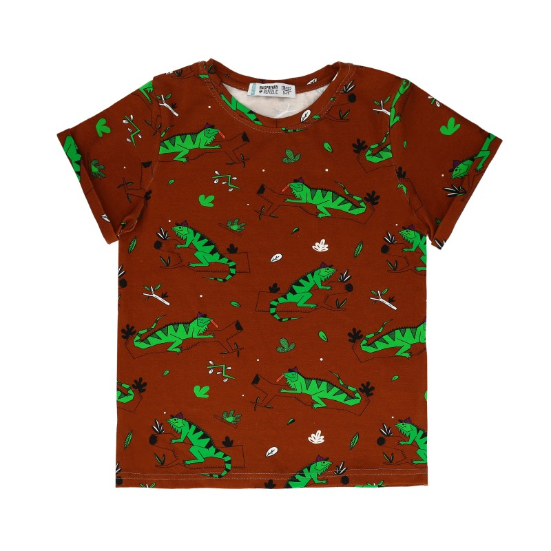 Raspberry Republic Short Sleeve T-Shirt – Ignacio the Iguana Brown SS19