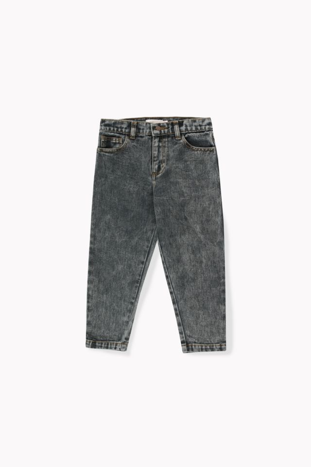Tinycottons Baggy Jeans Snow Black