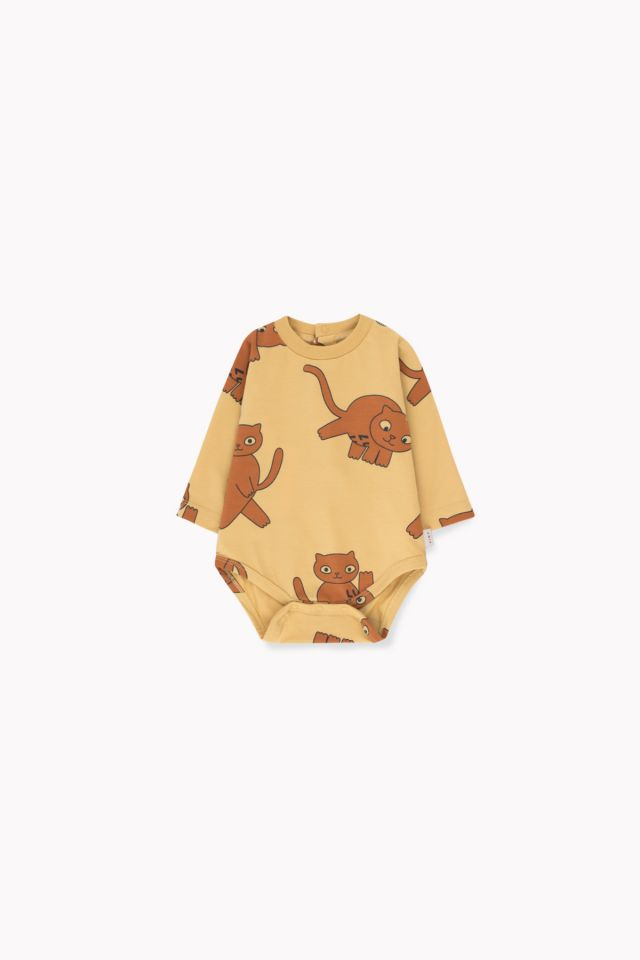 Tinycottons Cats Ls Body Sand/Brown