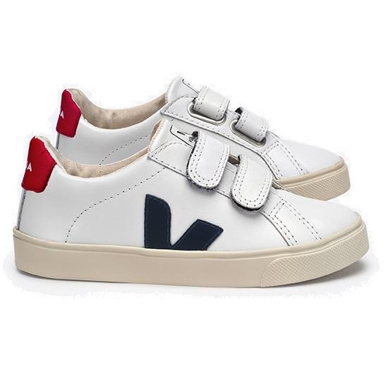 Veja Esplar Small Velcro Leather Extra White Nautico Pekin
