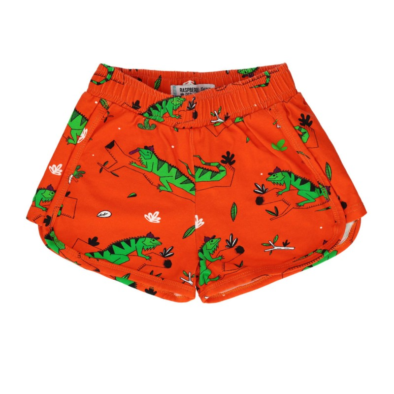 Raspberry republic Shorts – Ignacio the Iguana Red SS19