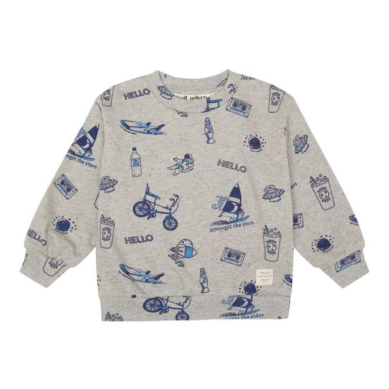Soft Gallery Kids Drew Sweatshirt Rainbow Neppy
