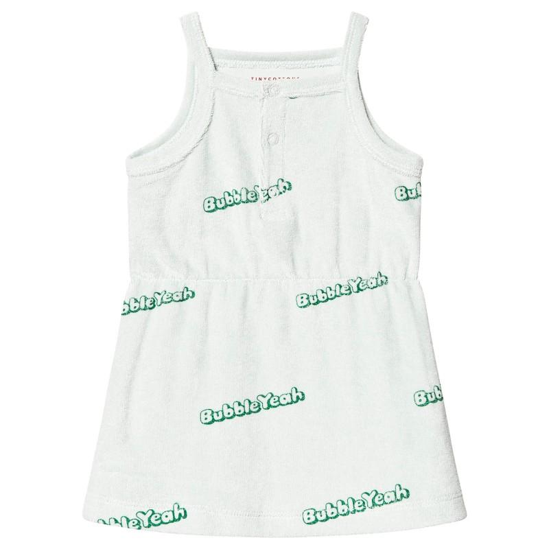 Tinycottons Bubble Yeah Dress Light Mint/Deep Green