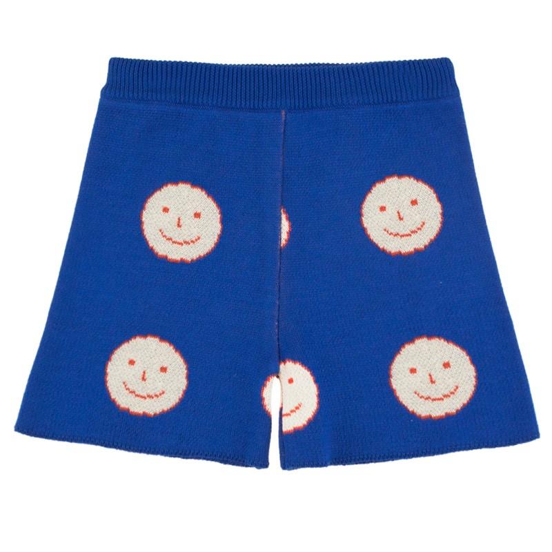 Tinycottons Happy Face Short Ultramarine/Cream