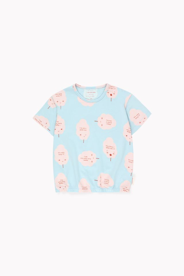 Tinycottons 'Candy Floss' SS Tee Mild Blue/Pearl