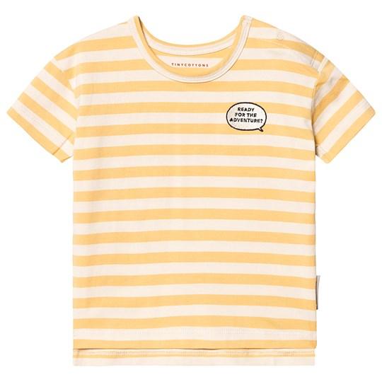 Tinycottons Adventure Stripes Tee Cream/Canary