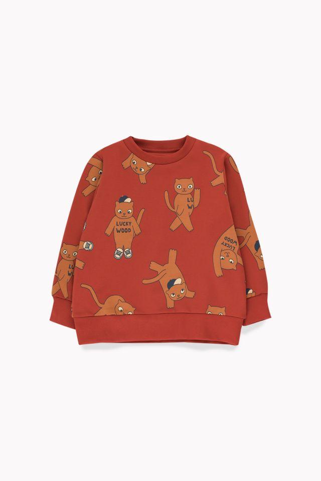 Tinycottons Cats Sweatshirt Dark Brown/Brown