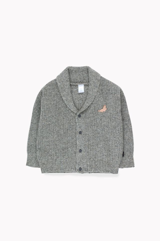 Tinycottons Little Seal Cardigan Grey