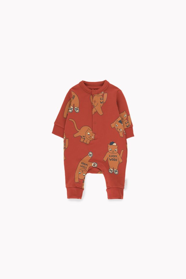 Tinycottons Cats One-Piece Dark Brown