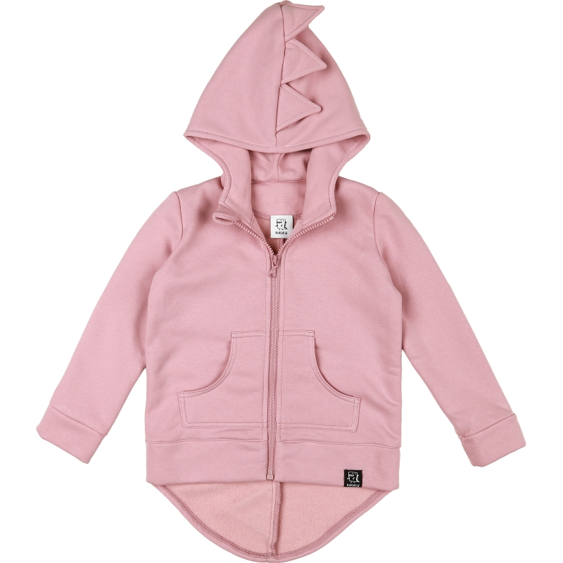 Kukukid Dino hoodie cotton pink