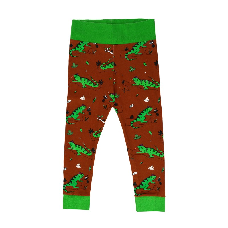Raspberry Republic Baggypants – Ignacio the Iguana Brown SS19