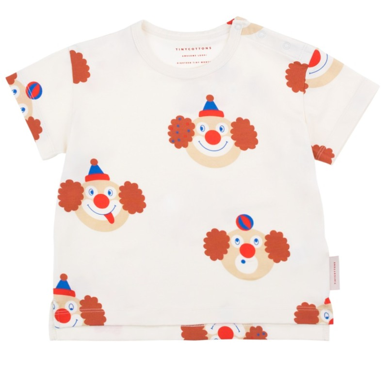 Tinycottons Clown Tee Off White/Sienna