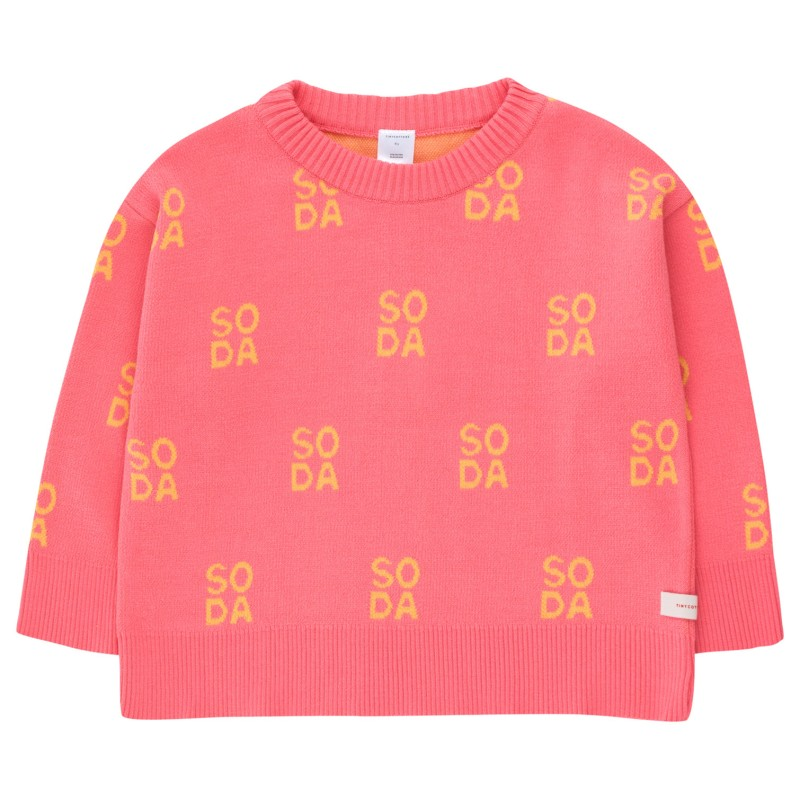 Tinycottons Soda Sweater Rose/Canary