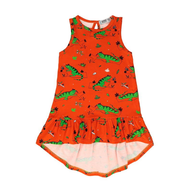 Raspberry Republic Dress – Ignacio the Iguana Red SS19