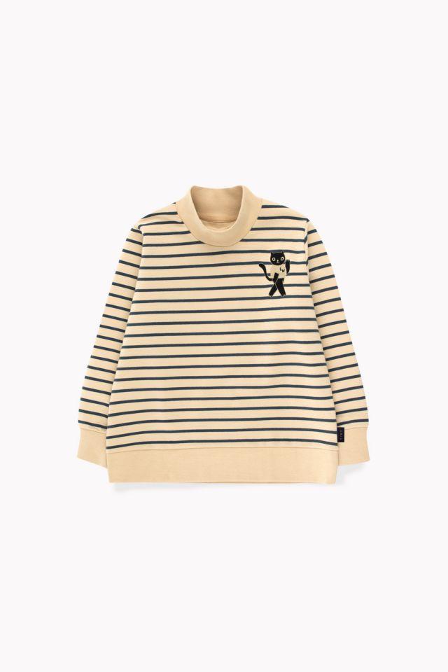 Tinycottons Cat Sweatshirt Sand/True Navy