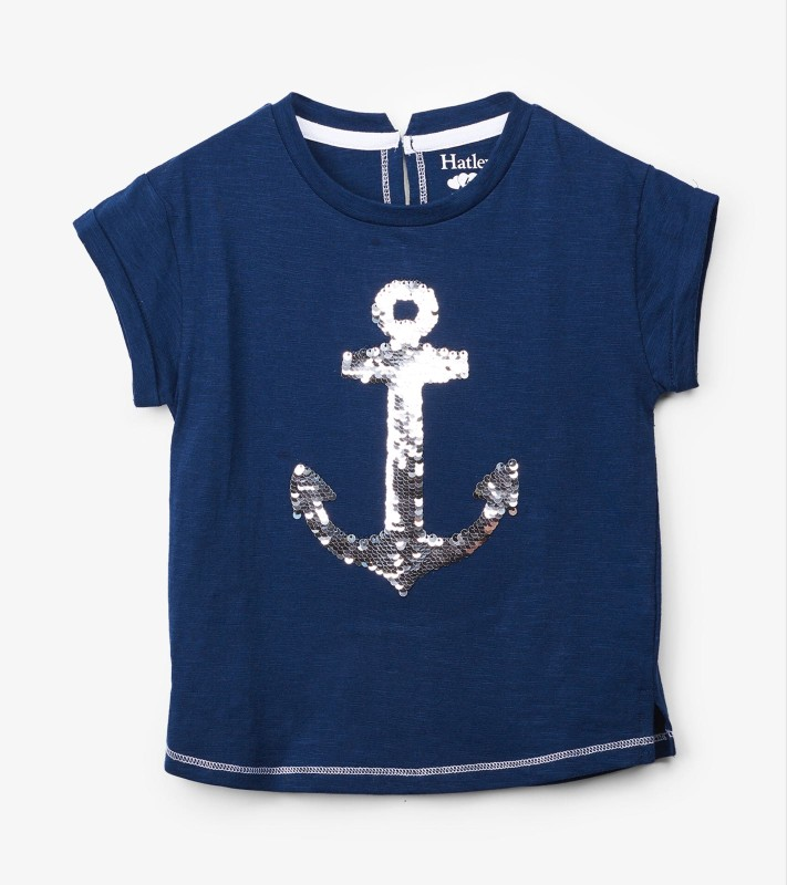 Hatley Anchor Sequin Tee