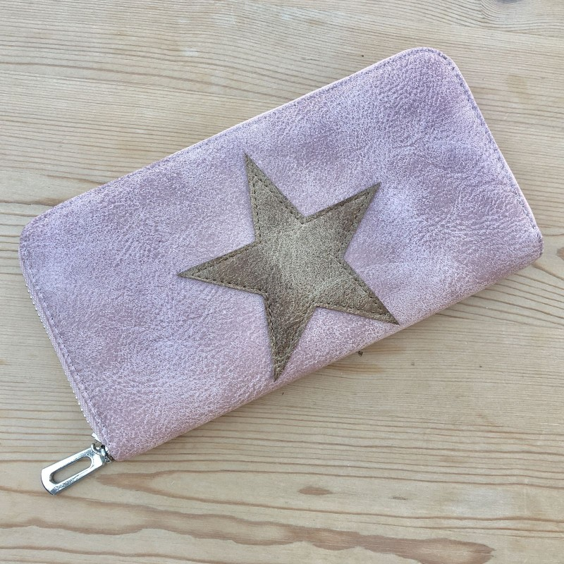 Star Purse (Large) - Tan/Pink
