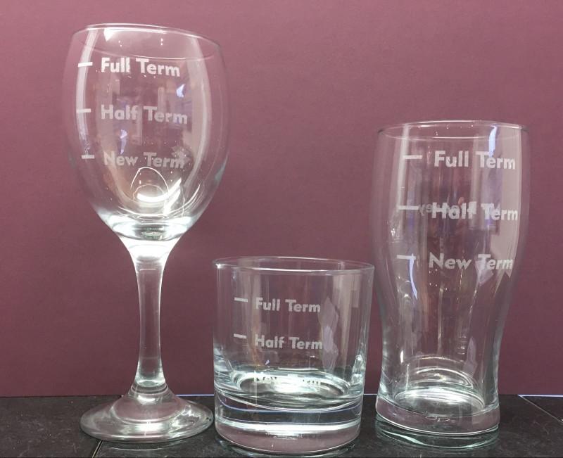 Teacher engraved glasses