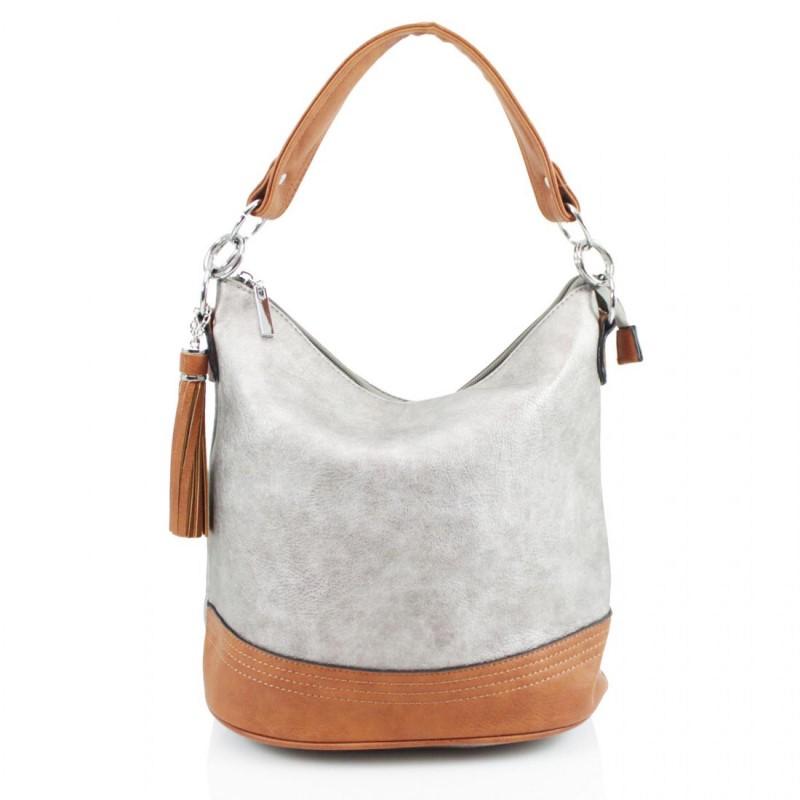 Tassel Bucket Bag - Silver