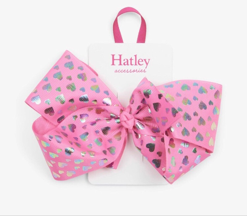 Hatley Hologram Hearts Bow Hair Clip
